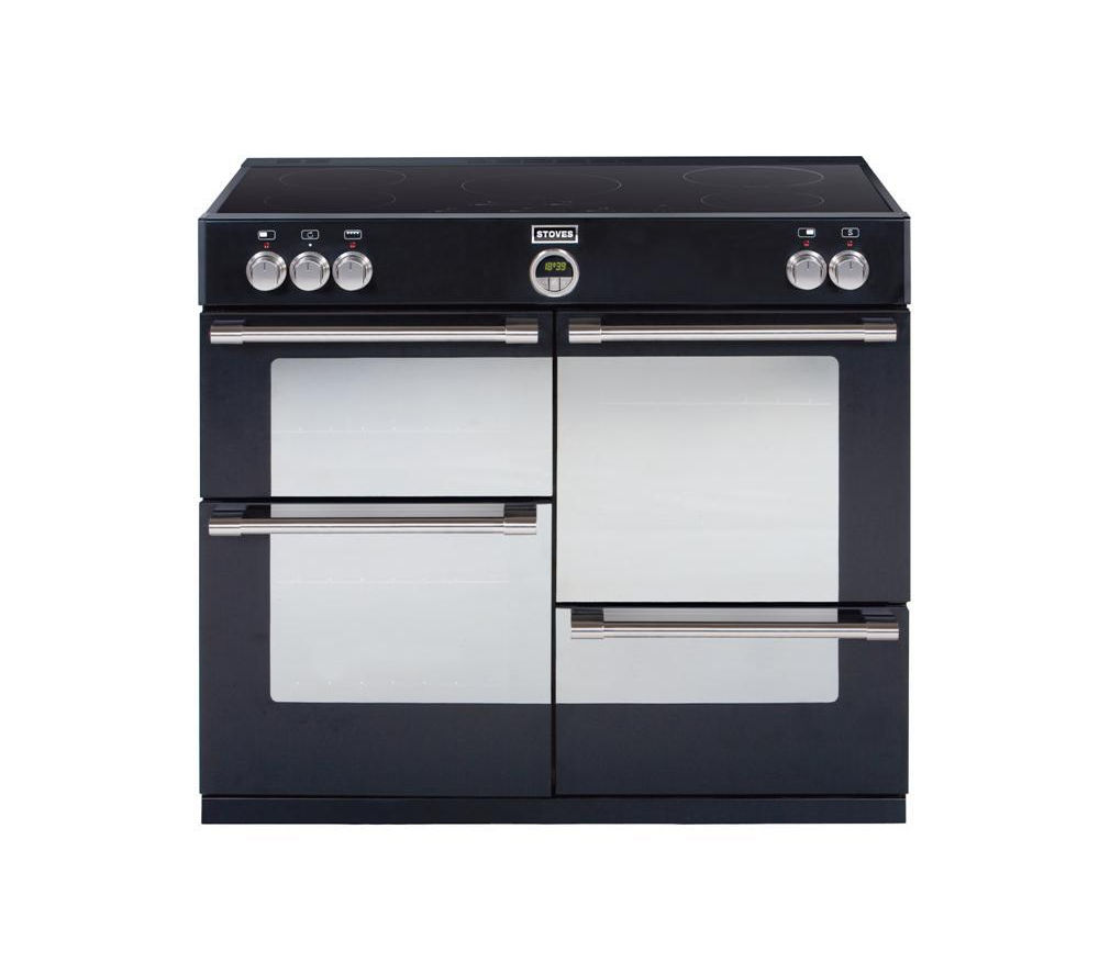 STOVES Sterling 1100Ei Electric Induction Range Cooker - Black