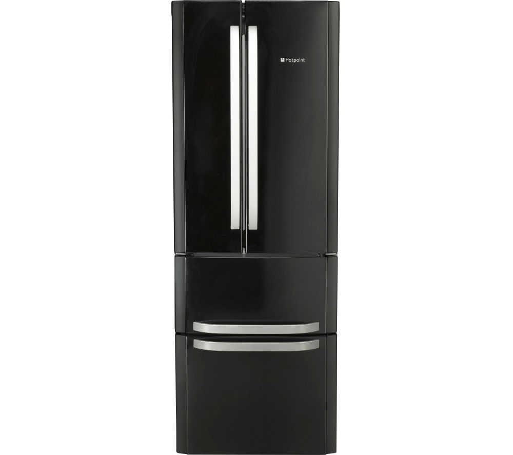buy hotpoint quadrio combi ffu4dk fridge freezer black. Black Bedroom Furniture Sets. Home Design Ideas
