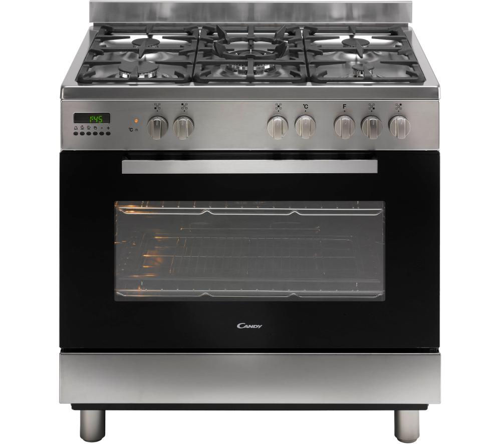 CANDY CCG9M52PX Maxi Dual Fuel Range Cooker - Stainless Steel