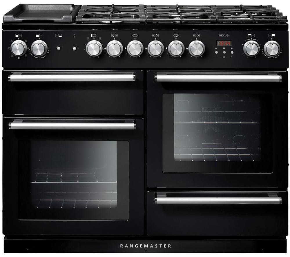 Buy Rangemaster Nexus 110 Dual Fuel Range Cooker Black