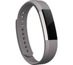 FITBIT Alta Leather Accessory Band - Graphite, Large
