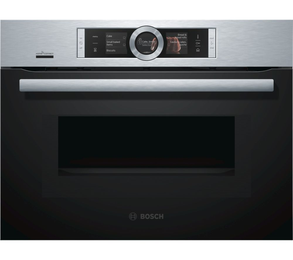 BOSCH Serie 8 CNG6764S6B Built-in Smart Combination Microwave - Stainless Steel