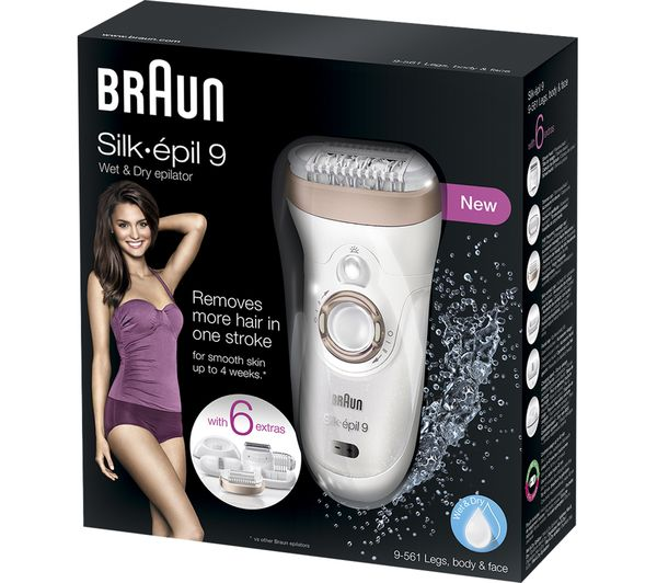 Buy BRAUN Silk-epil 9 9-561 Wet   Dry Epilator - White  ac763f5844
