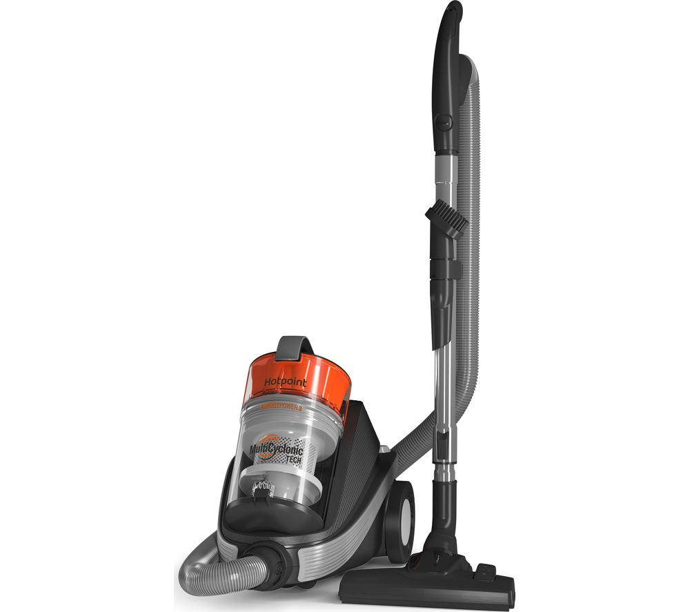 HOTPOINT SLM07A3EO Cylinder Bagless Vacuum Cleaner - Orange