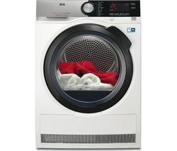 AEG AbsoluteCare T8DSC849R Heat Pump Tumble Dryer - White
