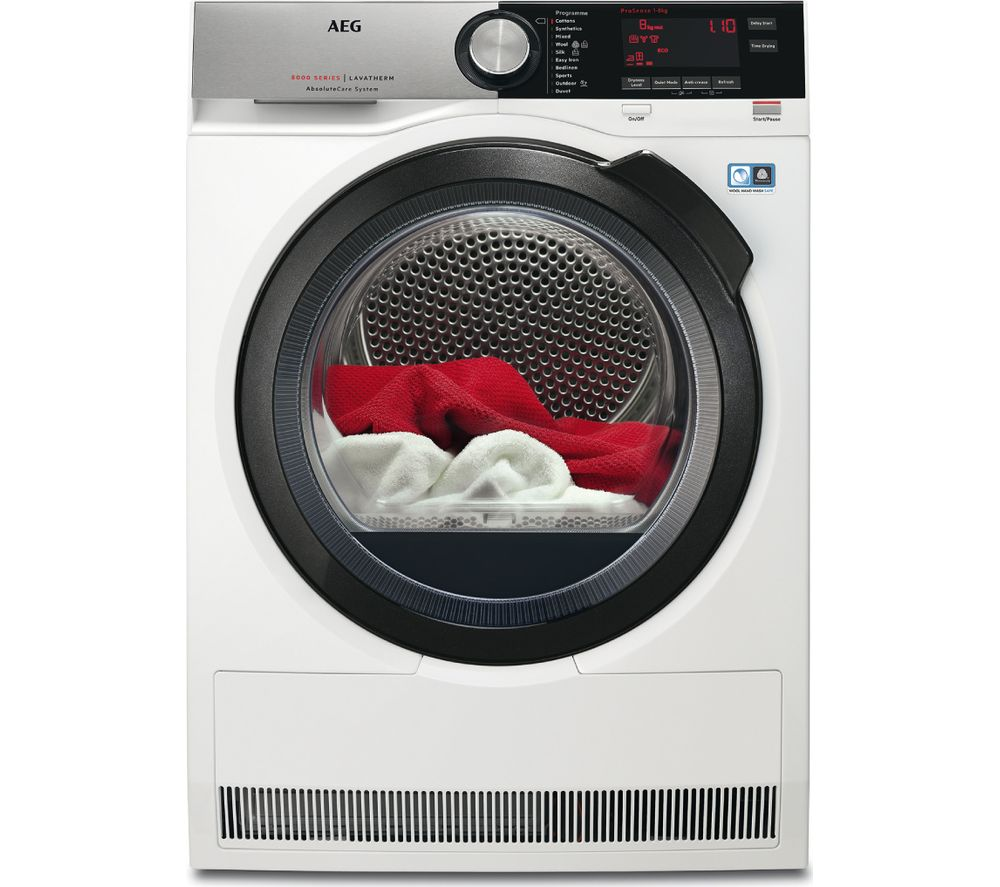 AEG AbsoluteCare T8DSC849R Heat Pump Tumble Dryer - White
