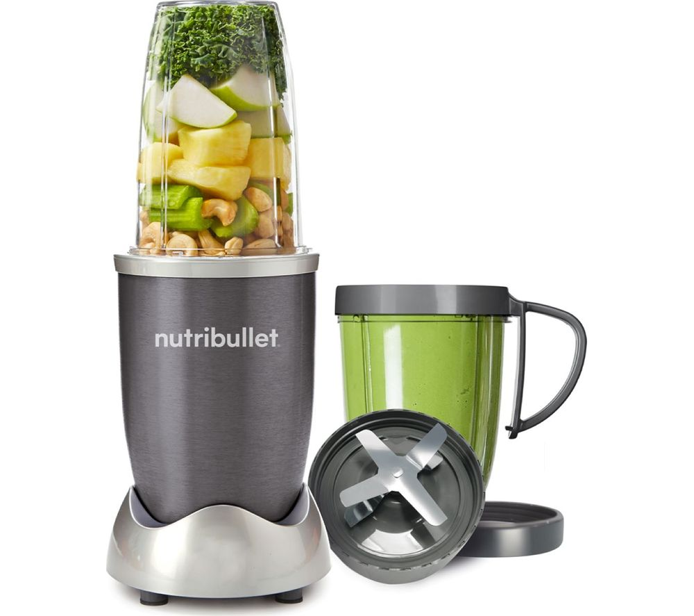 Nutribullet 600 8 piece blender graphite for Magic bullet motor size