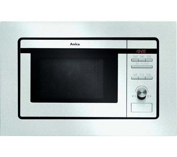 Image of AMICA AMM20G1BI Built-in Microwave with Grill - Stainless Steel