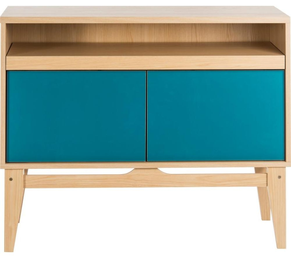Compare prices for Teknik Contemporary 5416966 Work Centre - Beech and Peacock Blue