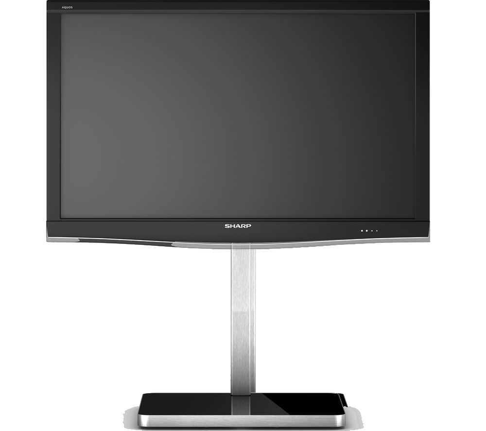 Image of SONOROUS PL2700-BLK Cantilever 600 mm TV Stand - Black & Silver, Black