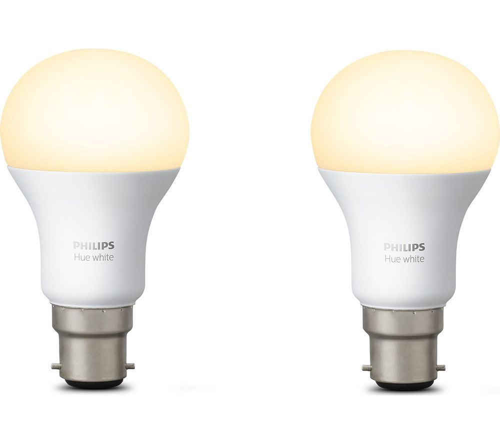 buy philips hue white wireless bulb b22 twin pack free delivery currys. Black Bedroom Furniture Sets. Home Design Ideas