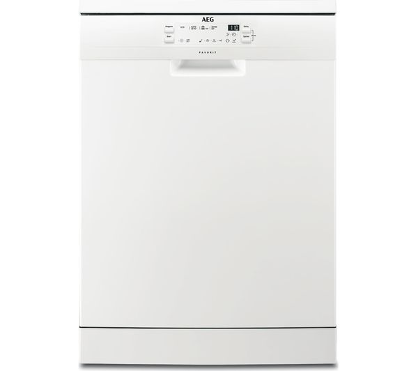Image of AEG AirDry Technology FFB41600ZW Full-size Dishwasher - White