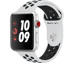 APPLE Watch Nike+ Series 3 Cellular - Silver, 42 mm