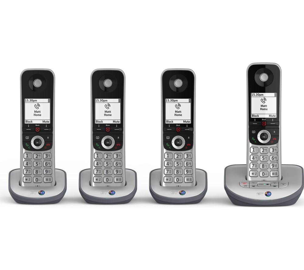 BT Advanced 1Z Cordless Phone - Quad Handsets