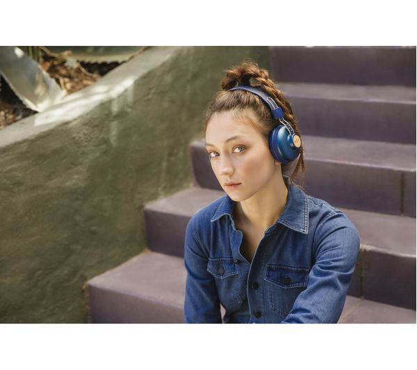 9be5e09f5cb HOUSE OF MARLEY Positive Vibration 2 Wireless Bluetooth Headphones - Blue
