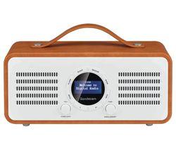 SANDSTROM SL-DBTB18 Portable DAB+/FM Bluetooth Radio - Brown