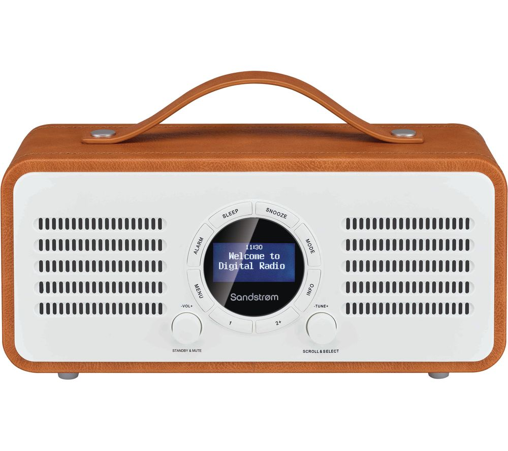 Sandstrom Sl Dbtb18 Portable Dabﱓ Bluetooth Radio Brown Brown