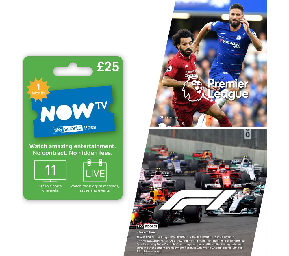Image of NOW TV Sky Sports Pass - 1 Month