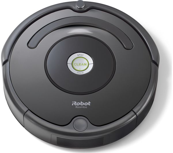 Image of IROBOT Roomba 676 Robot Vacuum Cleaner - Black & Charcoal
