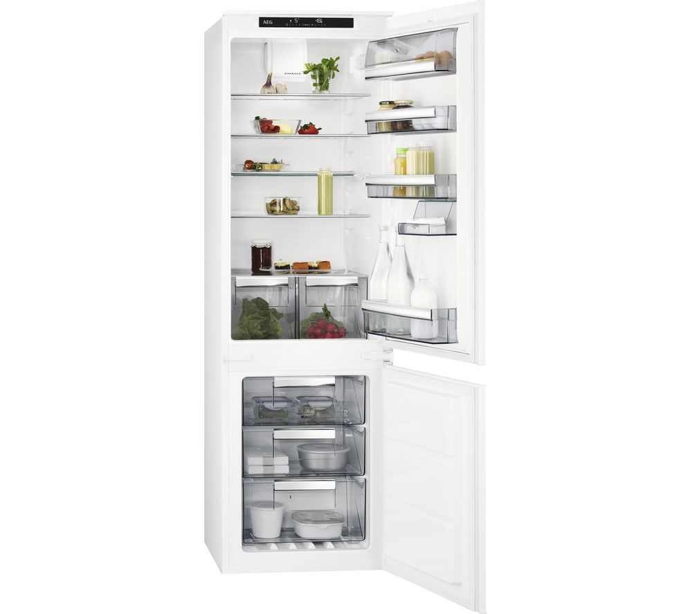 AEG SCE8181VTS Integrated 70/30 Fridge Freezer - White, White