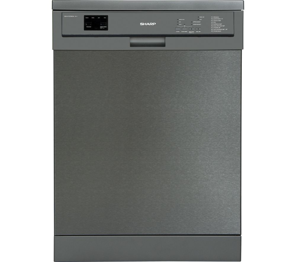 SHARP QW-DX26F41A Full-size Dishwasher – Stainless Steel, Stainless Steel