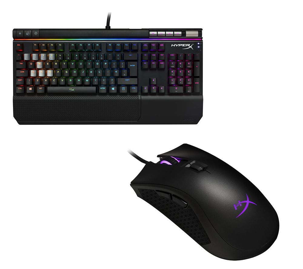 HYPERX Alloy Elite RGB Mechanical Gaming Keyboard & Pulsefire FPS Pro RGB Laser Gaming Mouse Bundle