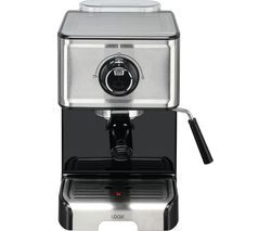 LOGIK L15EXC19 Espresso Coffee Machine - Stainless Steel & Black