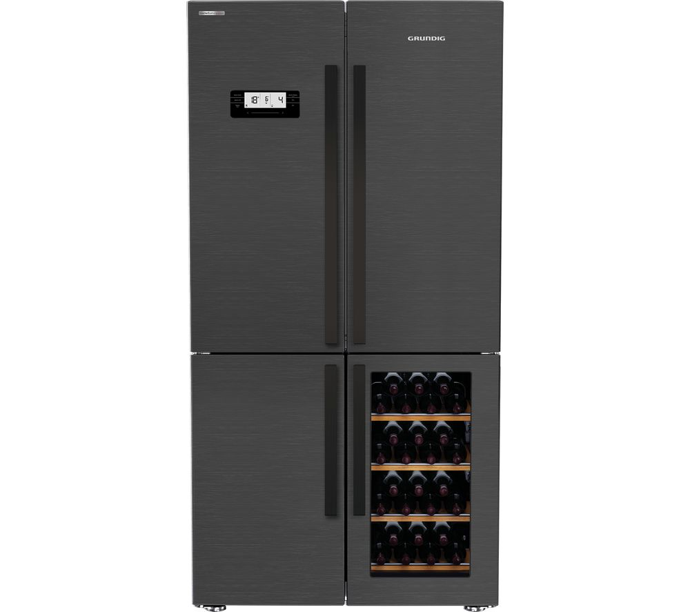 GRUNDIG GQN21220WZ Fridge Freezer - Dark Steel