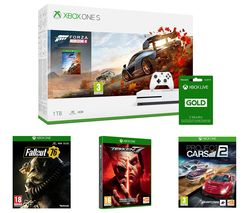 MICROSOFT Xbox One S, Forza Horizon 4, Project Cars 2, Tekken 7, Fallout 76, Apex Legends & LIVE Gold 3 Month Subscription Bundle