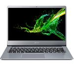 £399, ACER Swift 3 14inch AMD Athlon Laptop - 128 GB SSD, Silver, Social: Basic computing on the go, Windows 10 S, AMD Athlon 300U Processor, RAM: 4GB / Storage: 128GB SSD, Full HD display,