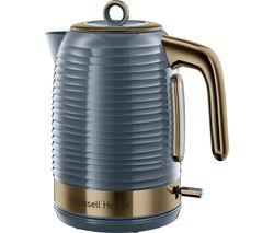 R HOBBS Inspire Luxe Jug Kettle - Grey & Brass