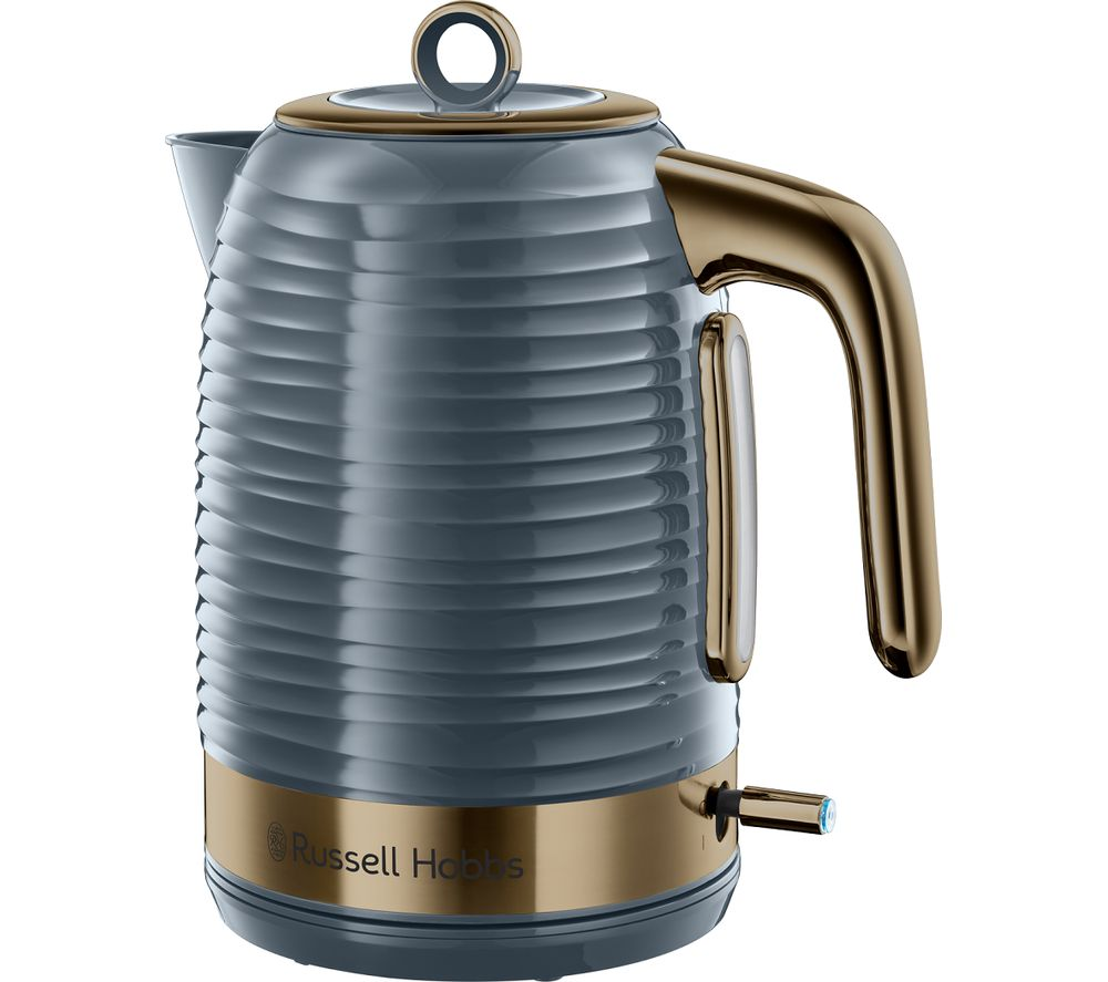 R HOBBS Inspire Luxe Jug Kettle - Grey & Brass, Grey