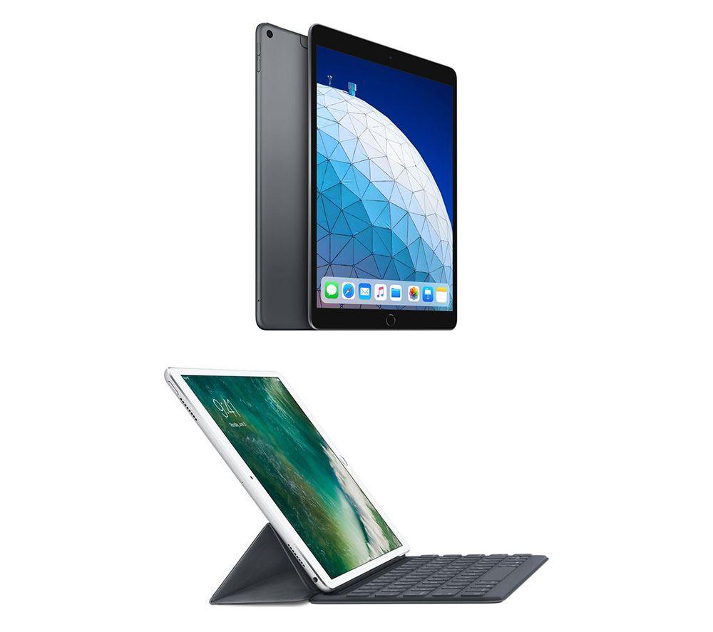 "Image of 10.5"" iPad Air Cellular (2019) & Smart Keyboard Folio Case Bundle - Space Grey, Grey"