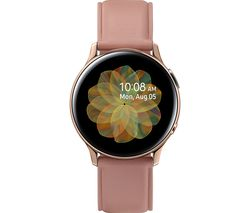 Image of SAMSUNG Galaxy Watch Active2 4G - Rose Gold, Leather & Stainless Steel, 40 mm