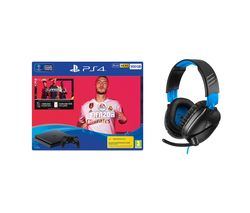SONY Playstation 4 with FIFA 20 & Turtle Beach Gaming Headset Bundle - 500 GB