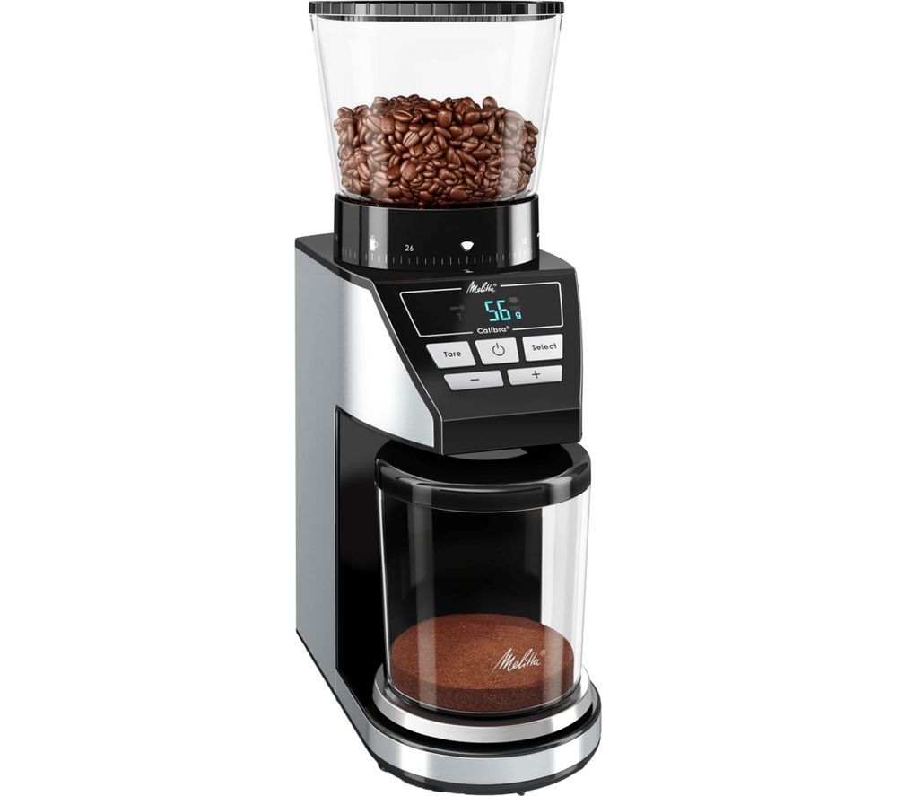 Image of MELITTA Calibra Electric Coffee Grinder - Black & Stainless Steel, Stainless Steel