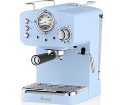 Retro Pump Espresso SK22110BLN Coffee Machine - Blue