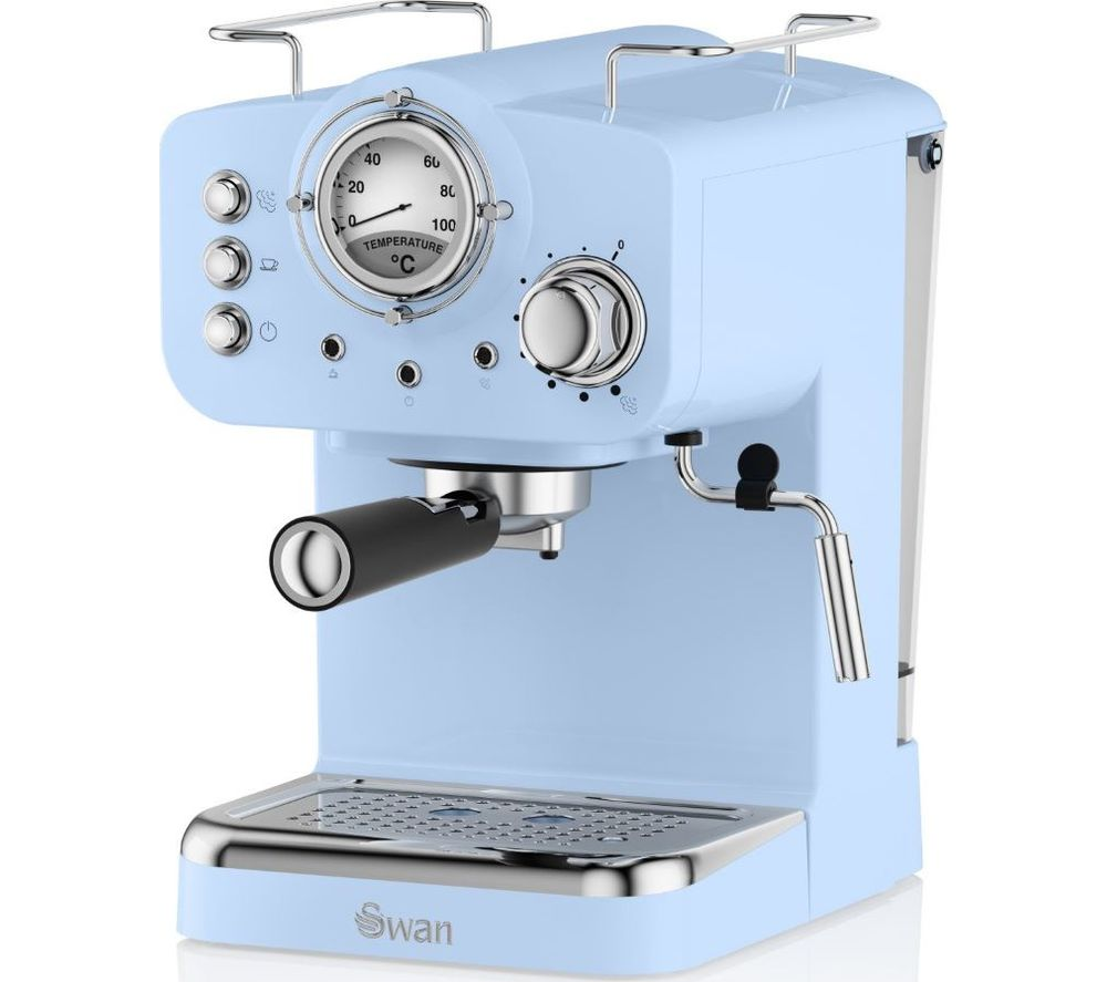 SWAN Retro Pump Espresso SK22110BLN Coffee Machine - Blue