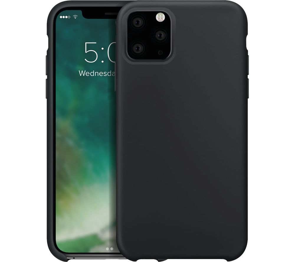XQISIT iPhone 11 Pro Max Silicone Case - Black, Black
