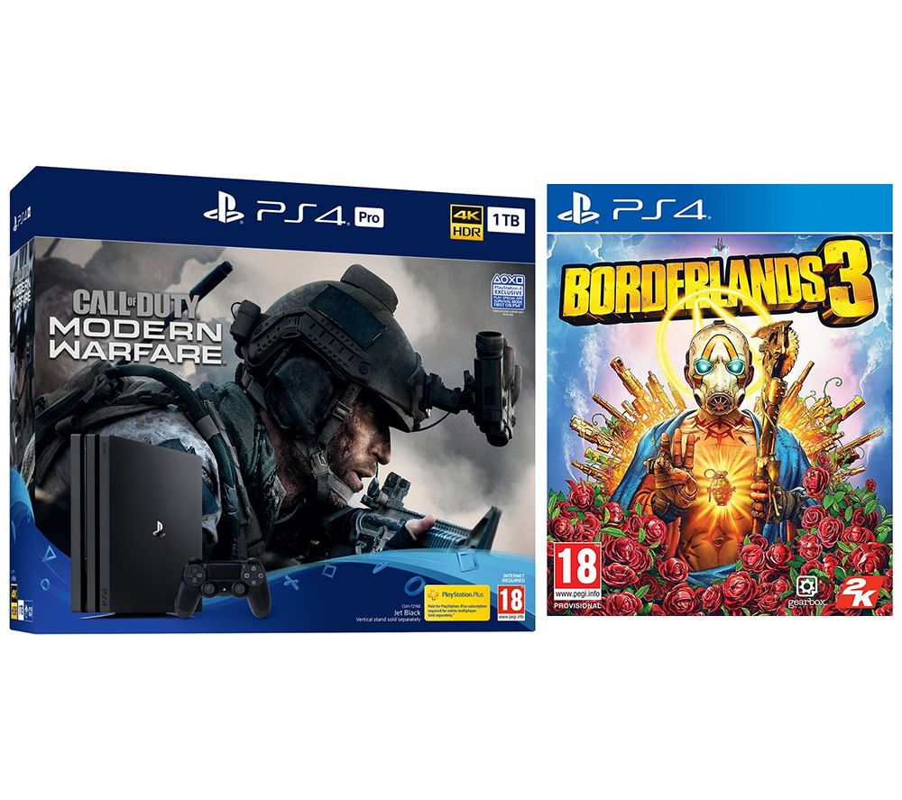 SONY PlayStation 4 Pro with Call of Duty: Modern Warfare & Borderlands 3 Bundle