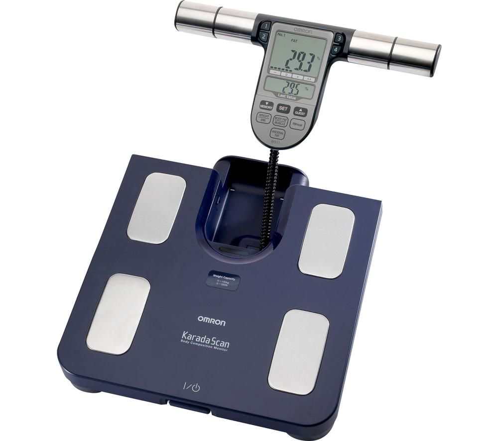 OMRON Karada Scan BF511 Electronic Bathroom Scales - Blue, Blue