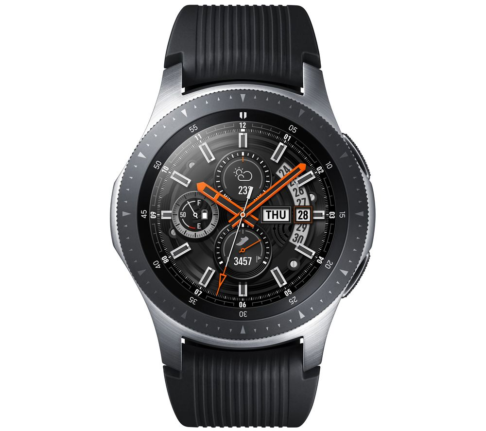 SAMSUNG Galaxy Watch Golf Edition - Silver & Black, Silicone Strap, 46 mm