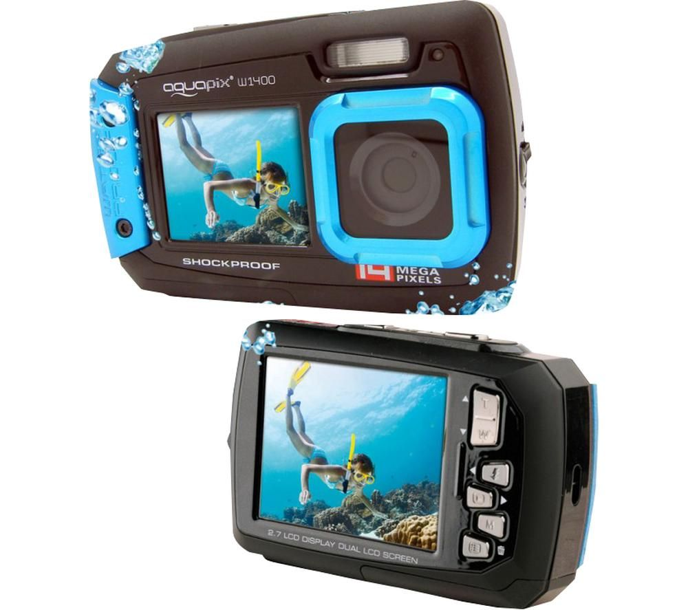Click to view product details and reviews for Aquapix Active W1400 Compact Camera Blue Blue.