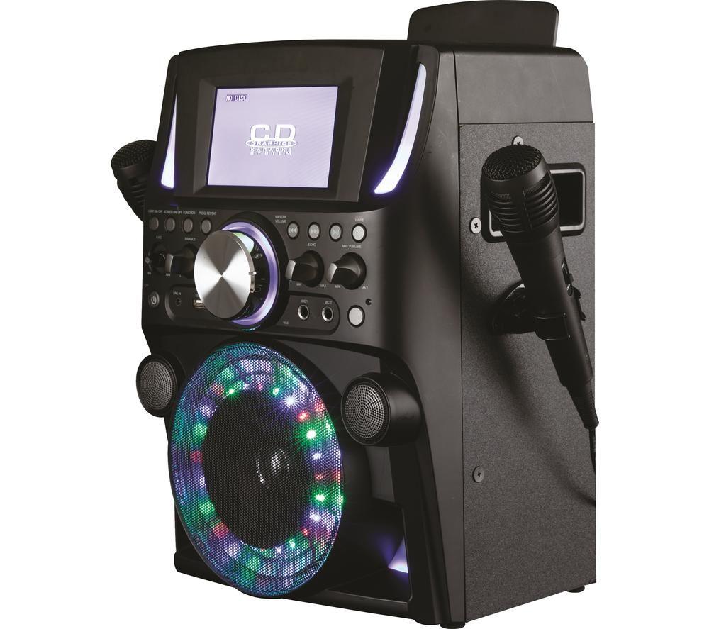 Image of AKAI A58084 Bluetooth Karaoke System - Black, Black