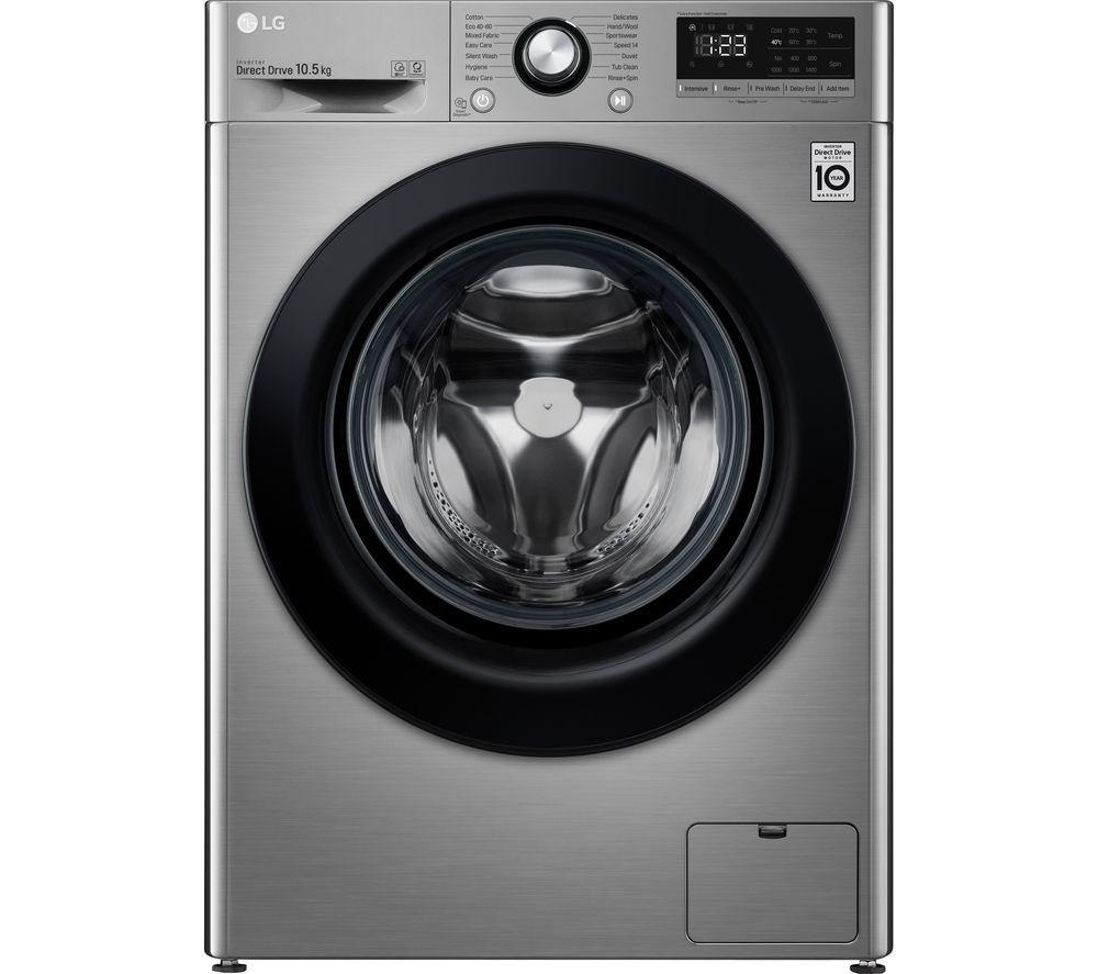 LG AI DD V3 F4V310SNE 10.5 kg 1400 Spin Washing Machine - Graphite