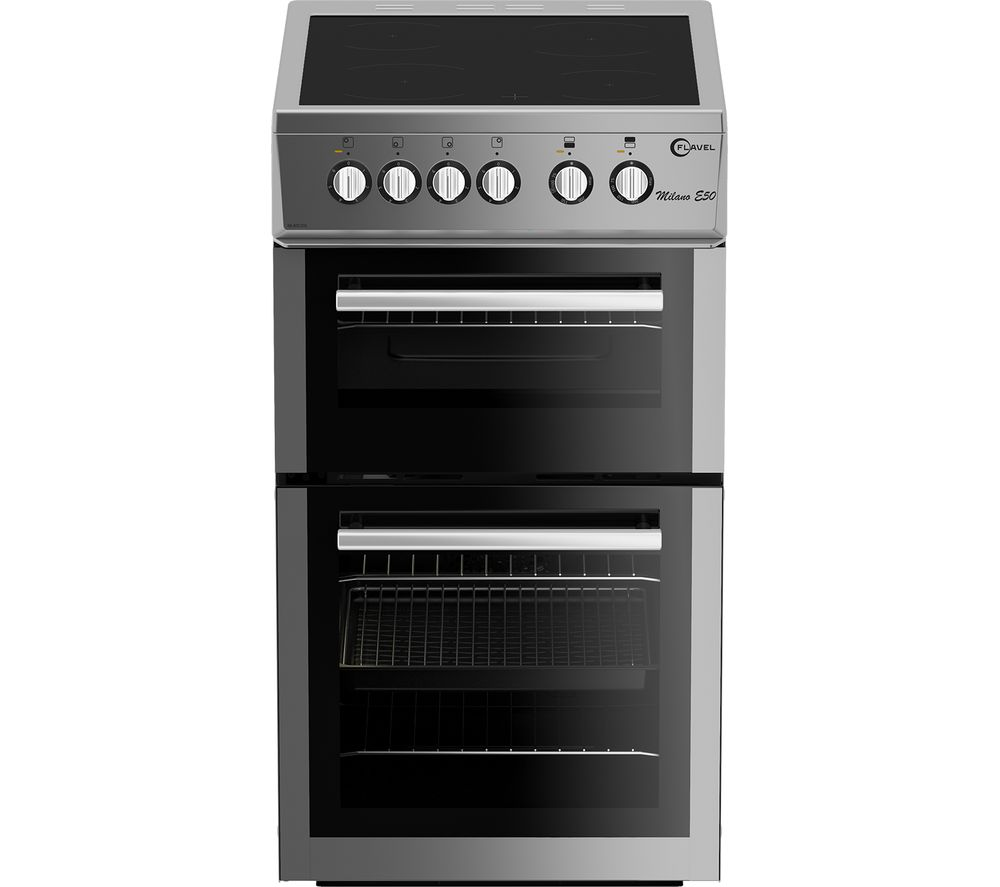 FLAVEL MLB7CDS 50 cm Electric Ceramic Cooker - Silver, Silver