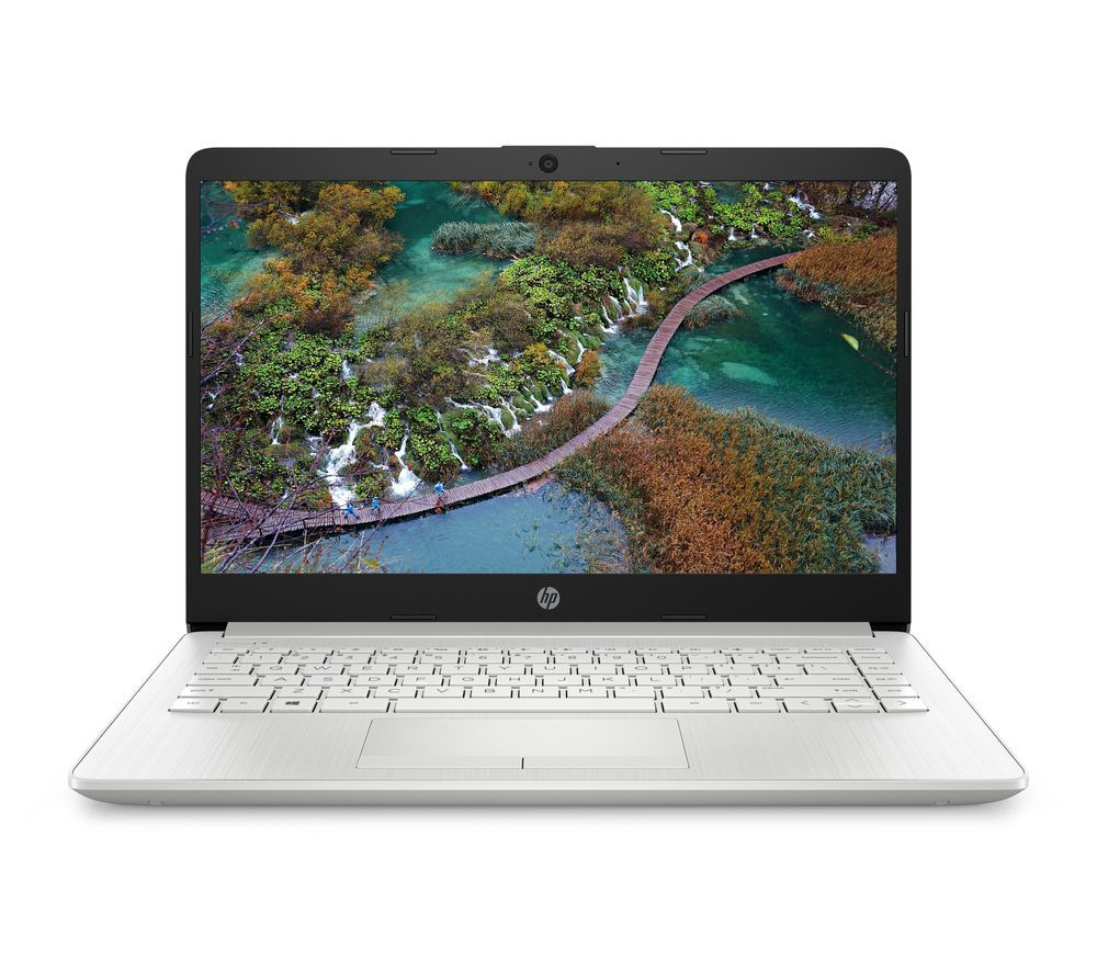 "HP 14-cf2518sa 14"" Laptop - Intel® Pentium® Gold, 128 GB SSD, Silver"