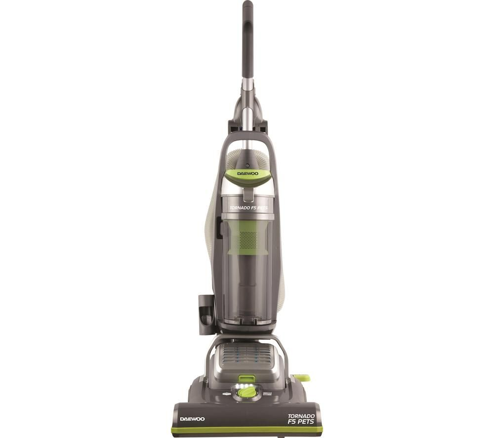 DAEWOO Tornado F5 Pets FLR00050 Upright Bagless Vacuum Cleaner - Grey & Green