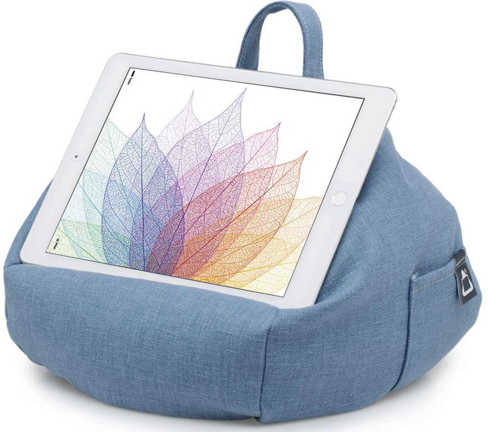 IBEANI Bean Bag Tablet Stand - Denim Blue, Blue