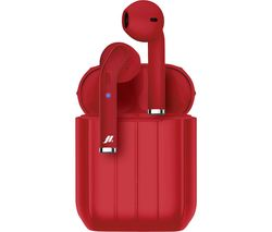 Music Hero Style MHTWSSTYLEBTR Wireless Bluetooth Earphones - Red